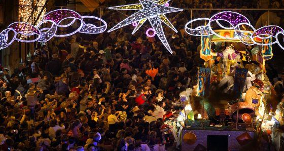 Una cabalgata de Reyes en Valencia.
