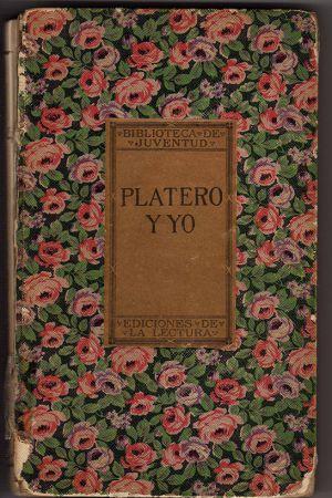 Primera portada de Platero y yo.