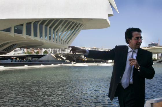 Santiago Calatrava, en el Palau de les Arts, hace siete años.