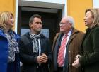 Los cuatro alcaldes de El Cabril reivindican las ayudas de Enresa