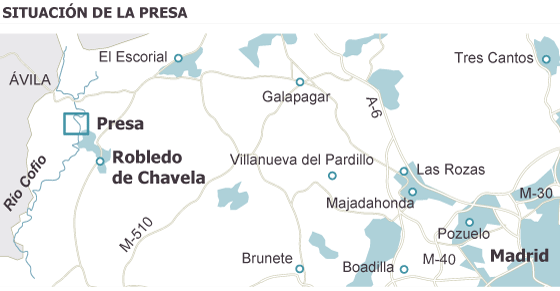 La presa de Robledo se borrará del mapa