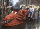 La lluvia desluce el desfile en Bilbao