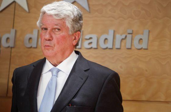 El presidente de la patronal madrileña CEIM, Arturo Fernández, en un acto en la Comunidad de Madrid en febrero de 2013.