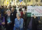 La protesta contra la subida del transporte llega a Sant Jaume