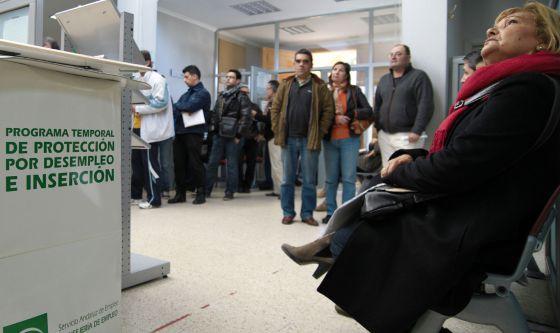 Oficina del Servicio Andaluz de Empleo en Bollullos de la Mitación, en Sevilla.