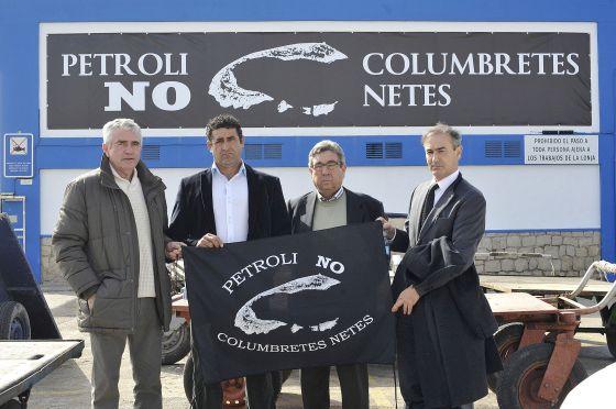 Los presidentes de las federaciones de cofradías de pescadores de Castellón, Valencia y Alicante