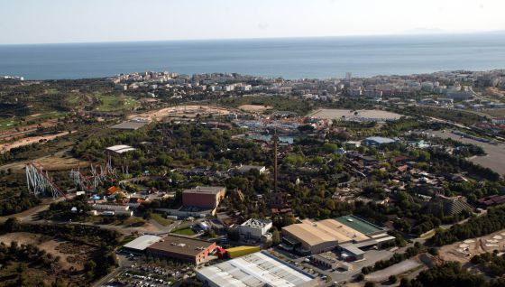 Terrenos entre Port Aventura y el mar donde de podría instalar Barcelona World.