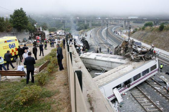 Tren accidentado en Santiago el pasado julio