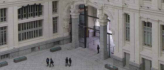 Galería acristalada del Palacio de Cibeles.