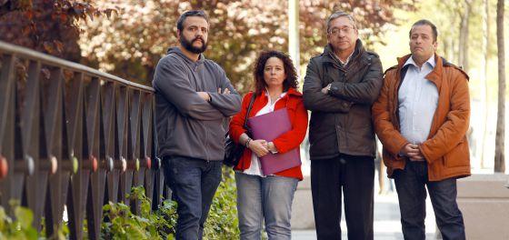 Francisco Armenta, Maite García Redondo, Francisco Arevalillo y Antonio García Redondo, familiares de tutelados de Afal.