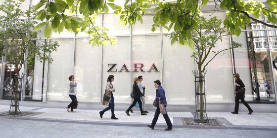 Exterior de la tienda de Zara en San Sebastián.