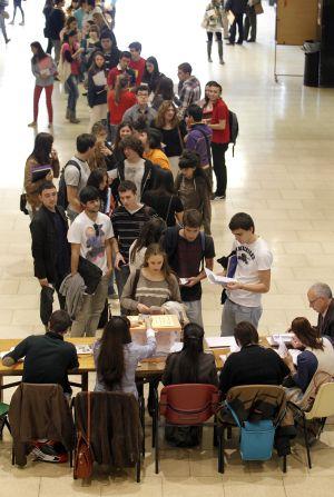 Elecciones a rector en la Universidad Complutense, en 2011.