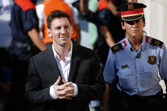 Lionel Messi, en los jugados de Gavà en septiembre de 2013