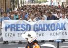 Cientos de personas piden libertad para los presos de ETA enfermos