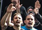 Pelea entre 'skins' y antifascistas en la puerta del Palacio de Justicia