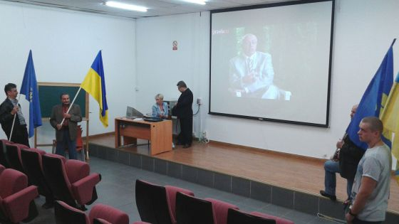 Uno de los actos sobre Ucrania en la Universidad Complutense.