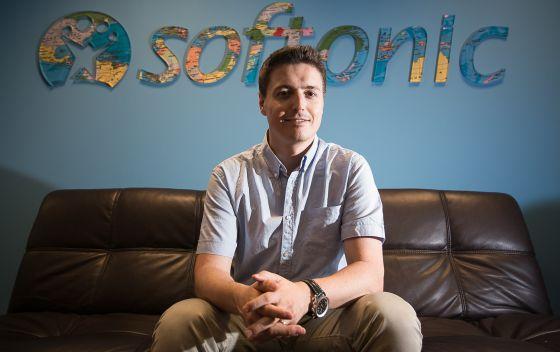 Tomas Diago, fundador de la Empresa Softonic, en Barcelona.