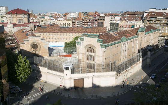 Recinto de la prisión Modelo de Barcelona.