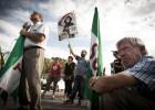 La marcha a Rota pide un uso humanitario para la base militar
