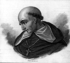 Grabado del Fray Bartolomé de las Casas.