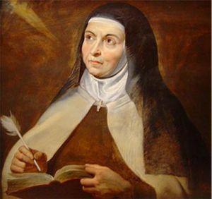 Teresa de Jesús, en un óleo de Rubens.