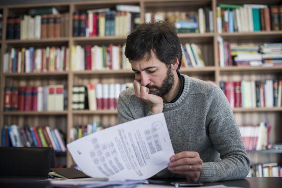 Oleguer Pujol, en el despacho de sus abogados durante la entrevista.