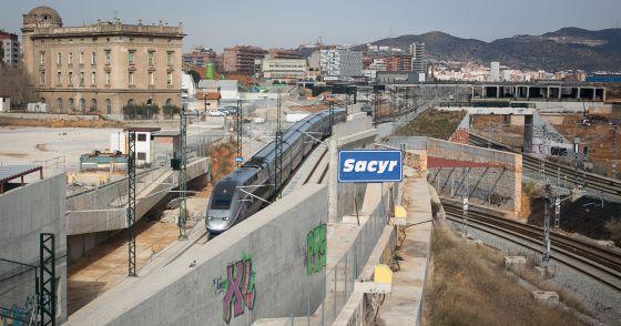 Las obras de la futura estación de La Sagrera.