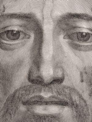 Detalle de la magnífica obra de Claude Mellan realizada en 1649 con una sola línea. / COLECCIÓN FURIÓ