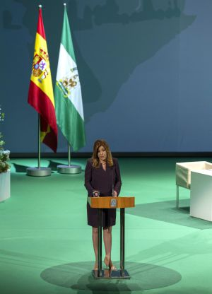 Díaz, durante el acto de entrega de las Medallas de Andalucía.