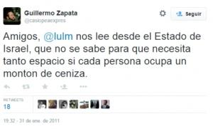 Un edil de Ahora Madrid se burla en Twitter de los judíos y de Irene Villa