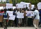 Marcha pacífica por la muerte de un senegalés en Salou