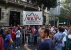 Trabajadores industriales protestan contra los recortes