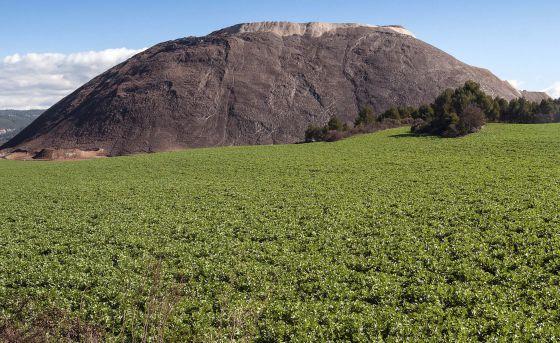 La montaña de residuos salinos de El Cogulló, en Sallent.