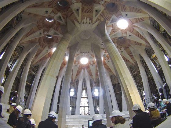 Interior del nuevo espacio la Sala Crucero que será la base de la torre de Jesús, de 172 metros de altura.