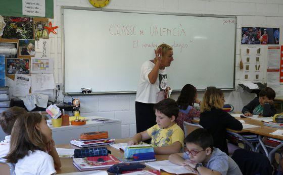 Un día de clase en el colegio La Gavina, en Picanya