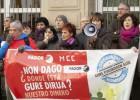 Extrabajadores de Fagor y Edesa, en una de las protestas por la pérdida de sus ahorros.