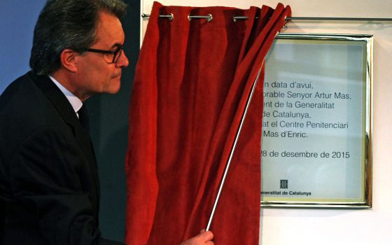 Artur Mas at the inauguration of a prison in Tarragona on Monday.
