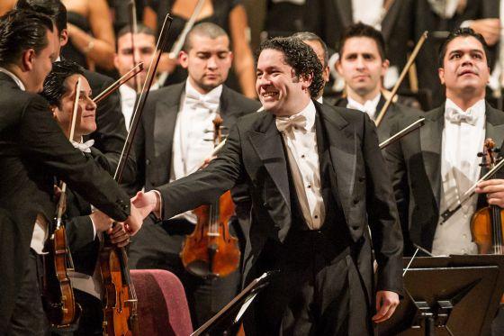 Dudamel, el 16 de enero del año pasado en el Palau de la Música.