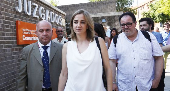 Tania Sánchez, a la salida de los juzgados el pasado junio.