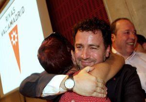 Pedro del Cura, al ser proclamado alcalde el pasado junio.
