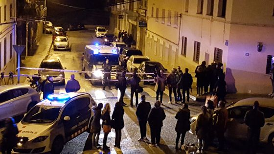 La calle Nàpols de Terrassa, donde se ha producido el crimen.