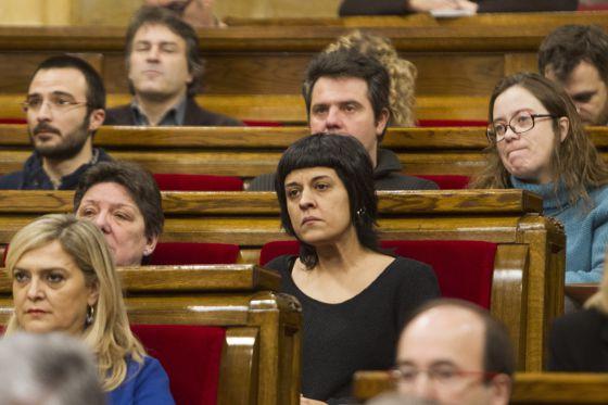La diputada de la CUP, Ana Gabriel, hoy en el Parlament.