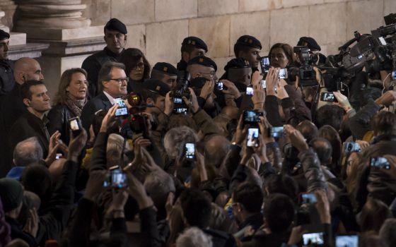 Artur Mas, a la salida de la Generalitat.