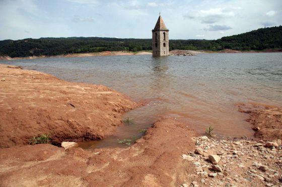 Imagen del pantano de Sau en 2008.
