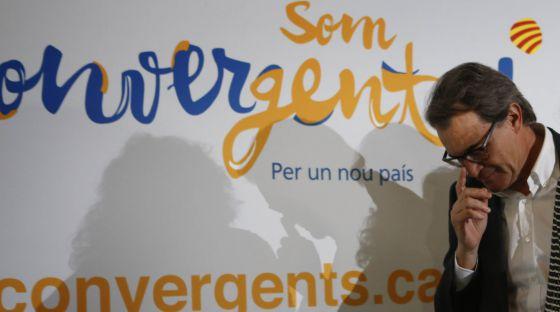 Artur Mas, ayer, tras el Consejo Nacional de CDC celebrado en Bellaterra.