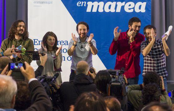 Mitin de Pablo Iglesias con En Marea en A Coruña.