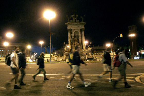 La plaza de Espanya de Barcelona.