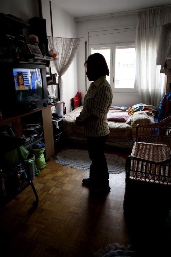 Una mujer con síndrome de Ulises, estrés crónico del emigrante.