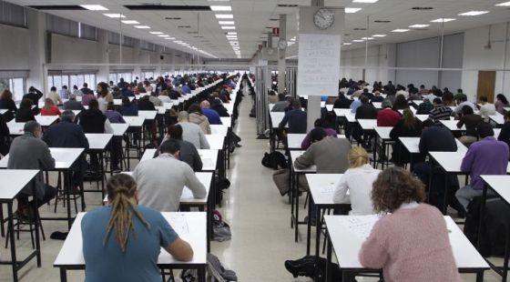 Examen de la oposición para conductores de Metro de Madrid.