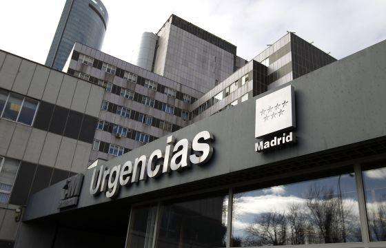 Entrada del servicio de Urgencias del Hospital de La Paz en Madrid.